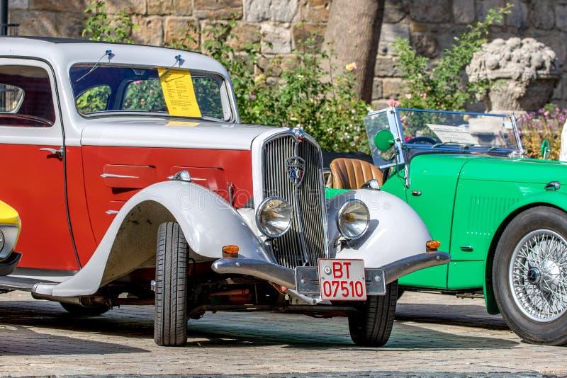 Peugeot 301 D 1932 - klassisk sportig cabriolet av 30-tal fotografering för bildbyråer