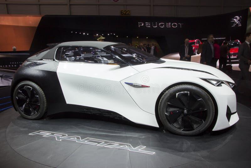 Peugeot Fractal Concept car royalty free stock photo