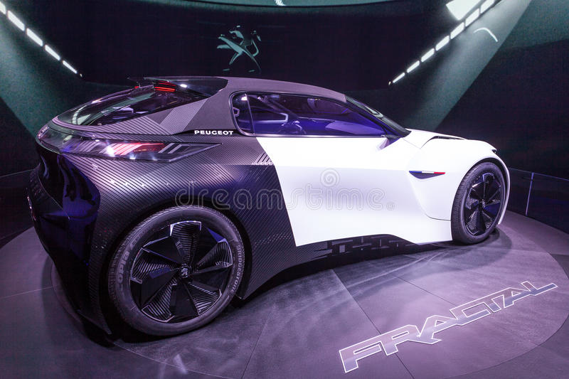 Peugeot Fractal Concept Car at the IAA 2015 royalty free stock photography