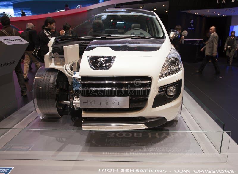 Peugeot Hybrid 4 stock image