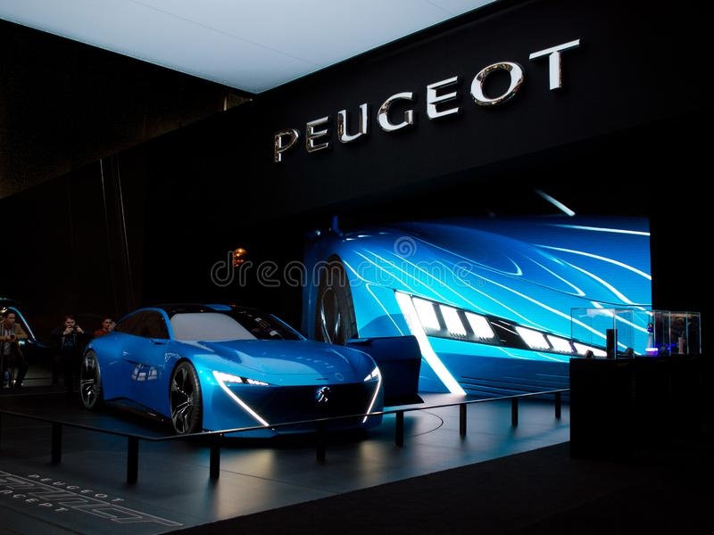 Peugeot instynkt w Genewa 2017 fotografia royalty free