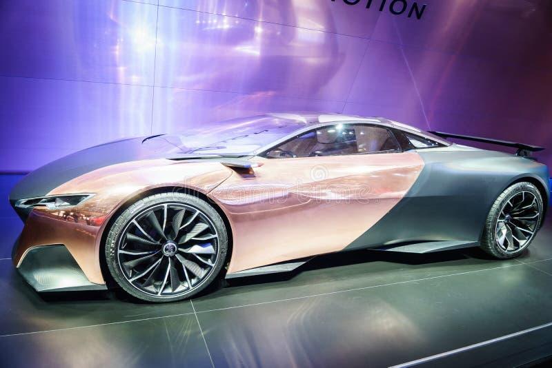 Peugeot onyks, Motorowy przedstawienie Geneve 201 fotografia stock