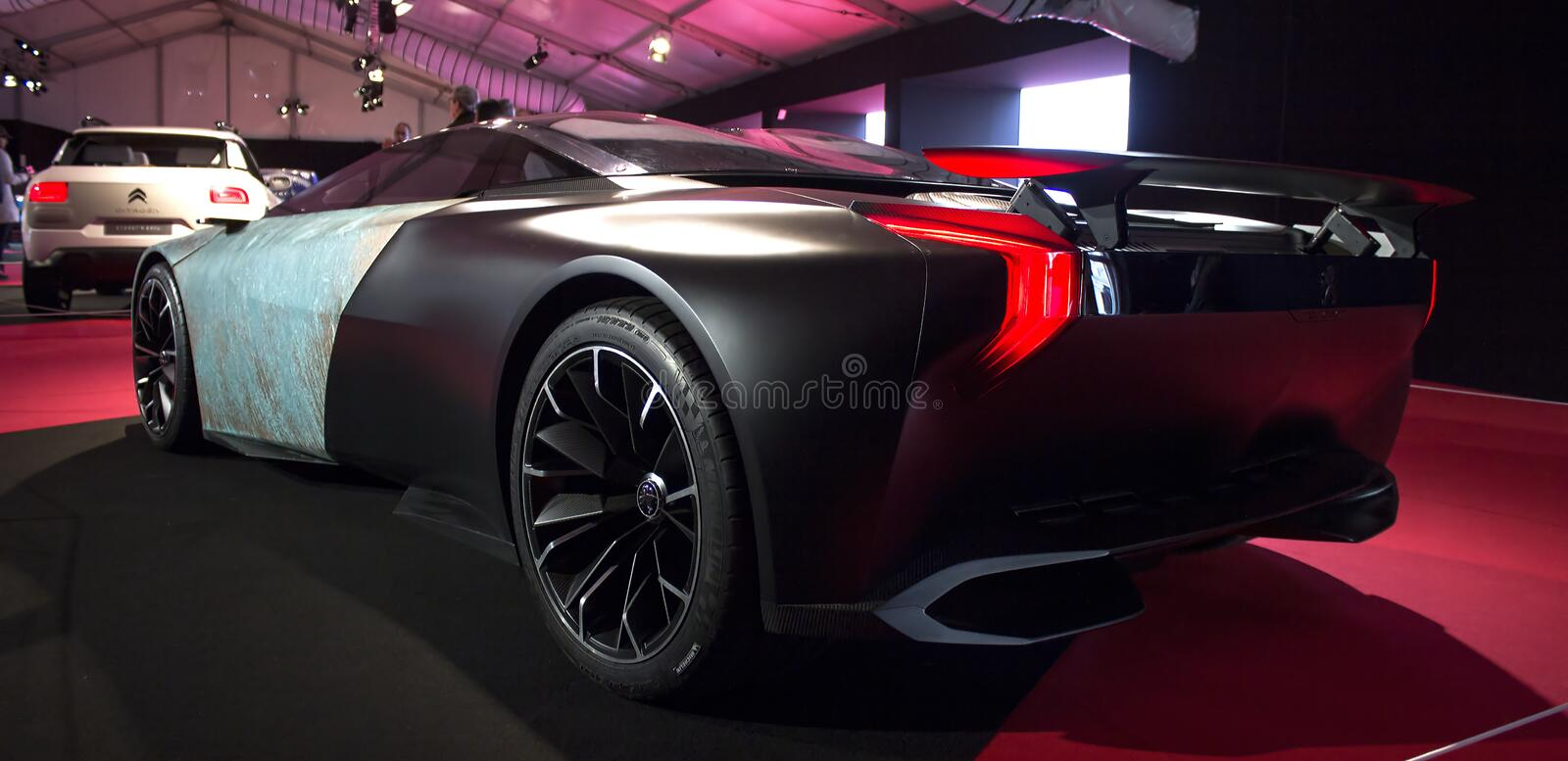 Peugeot Onyx back view royalty free stock image