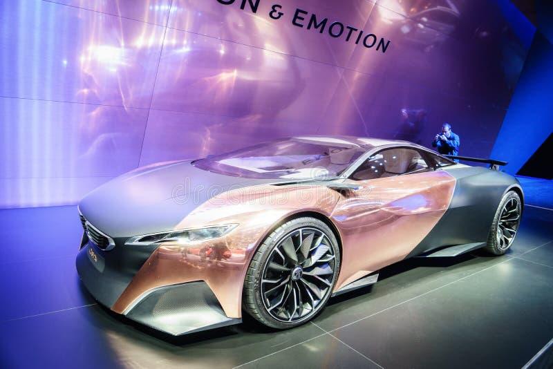Peugeot-Onyx, Motorshow Geneve 2015 stock afbeeldingen
