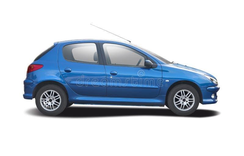 Peugeot 206 op wit royalty-vrije stock foto