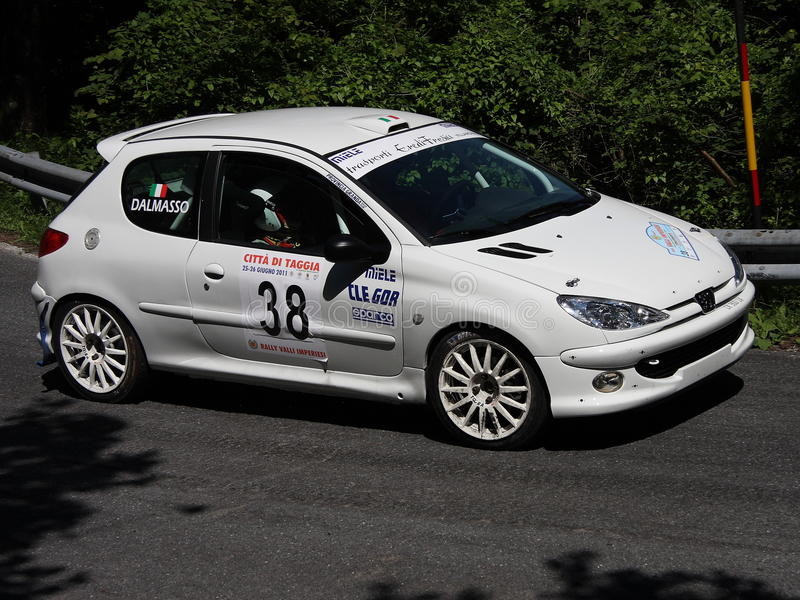 Peugeot 206 RC rally car editorial stock image. Image of held - 69901154