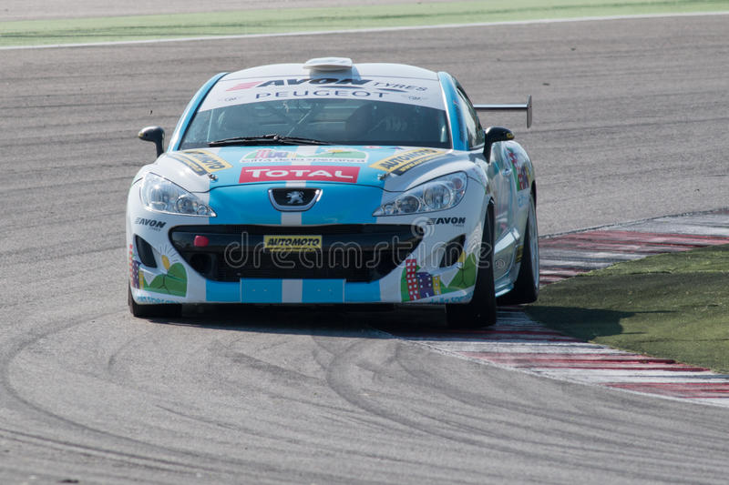 PEUGEOT RCZ CUP RACE CAR editorial stock image. Image of orfei ...