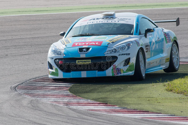 PEUGEOT RCZ CUP RACE CAR editorial stock image. Image of champion ...