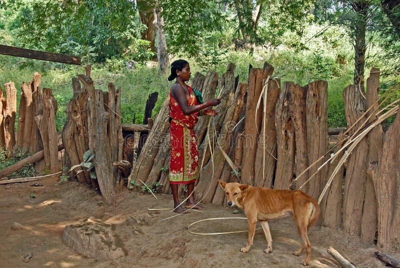 Peuple de forêt de l'Inde photo libre de droits