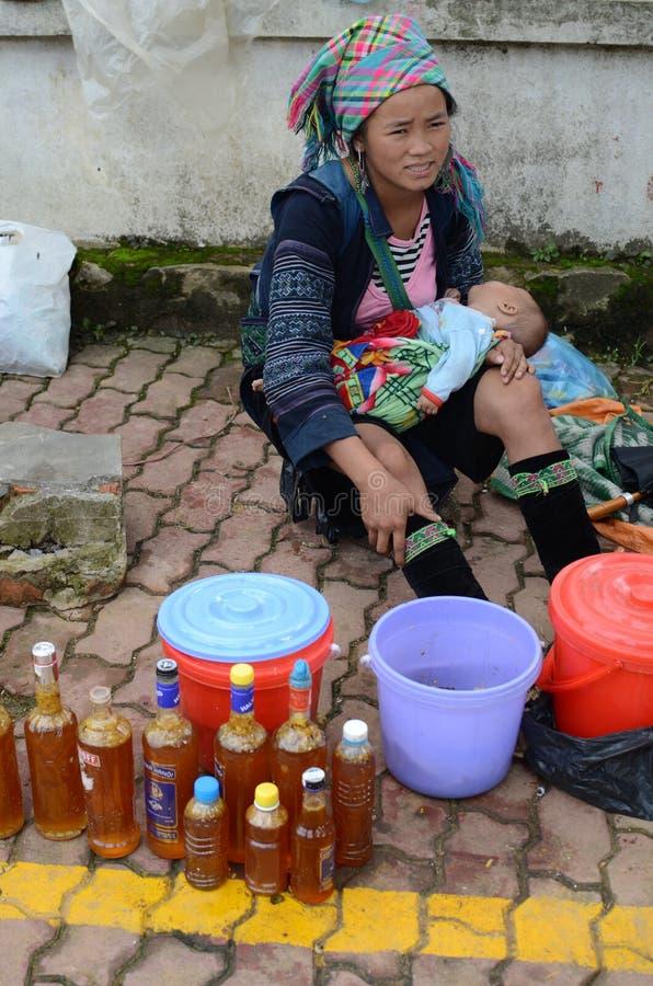 Peuple de minorité d'Ehtnic du Vietnam photographie stock libre de droits