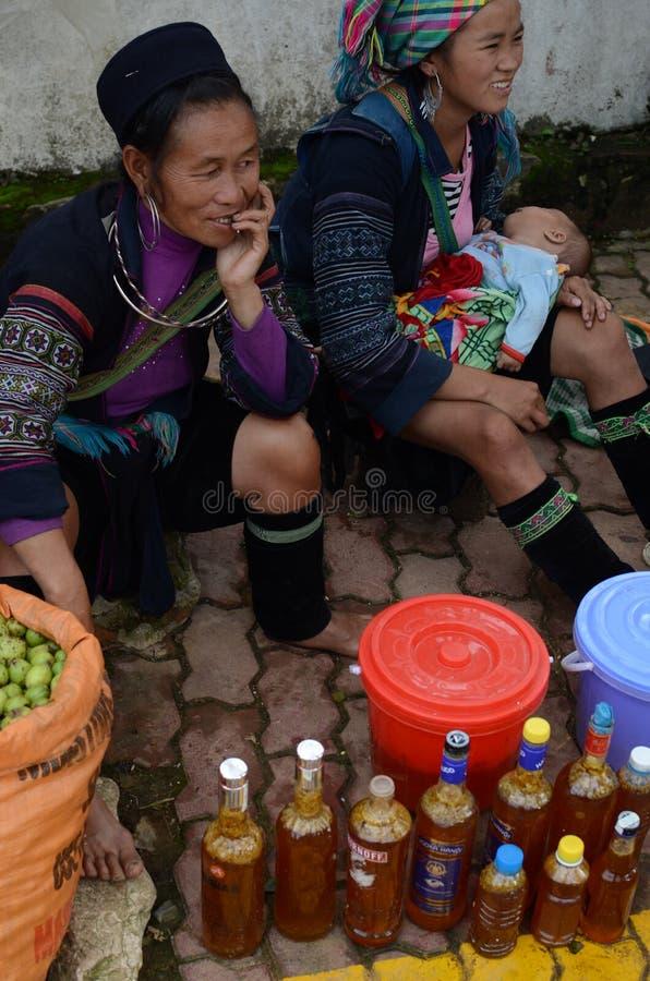 Peuple de minorité ethnique du Vietnam images stock