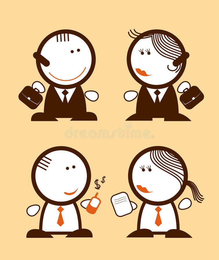 Peuples d'hommes d'affaires. illustration stock