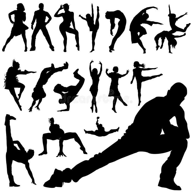 Peuples de danse illustration libre de droits