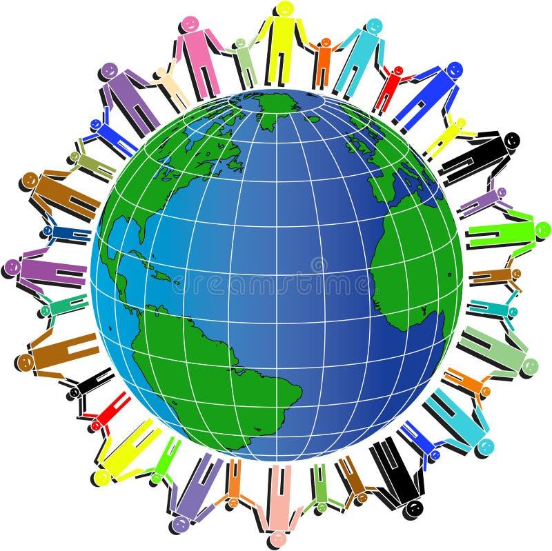 Peuples et monde illustration libre de droits