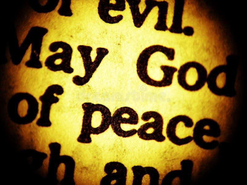 Peut Dieu de paix? - haut proche image libre de droits