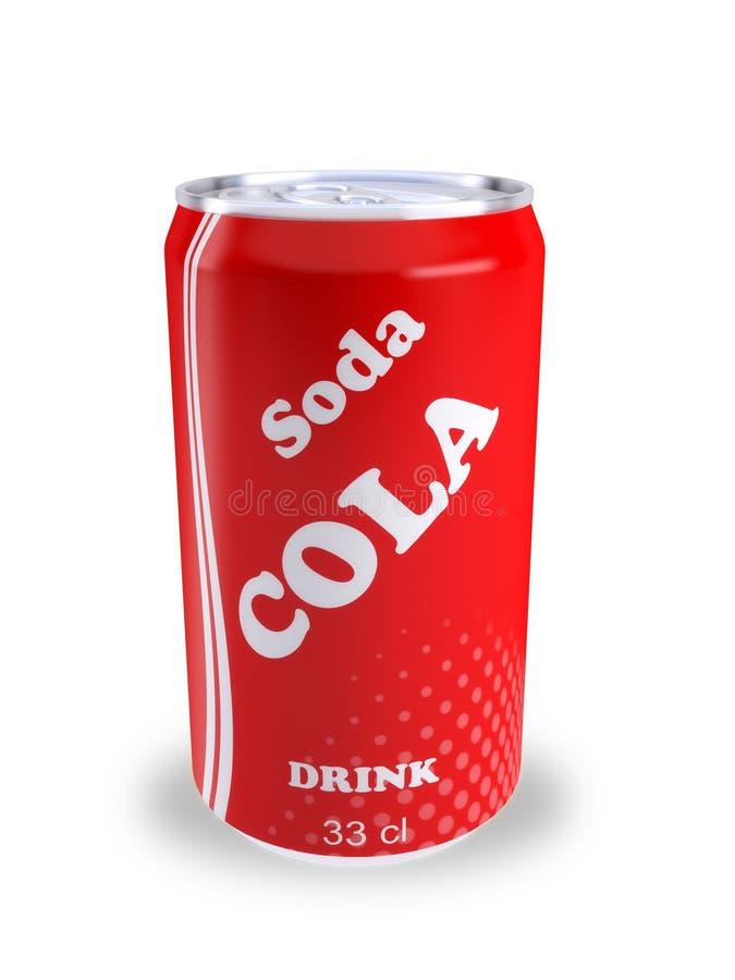 Peut la boisson 3D de kola de soude illustration libre de droits