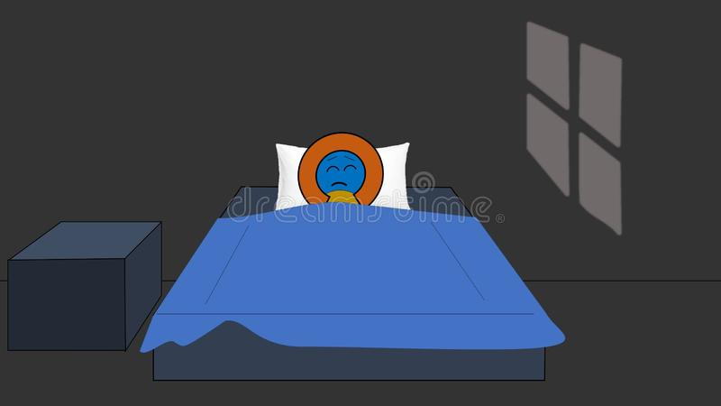 Peut le ` t aller dormir - Insomniac image libre de droits