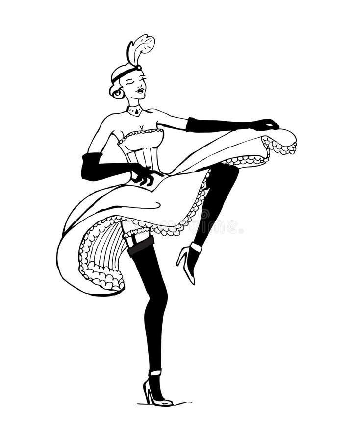 Peut mettre en boîte le danseur illustration de vecteur