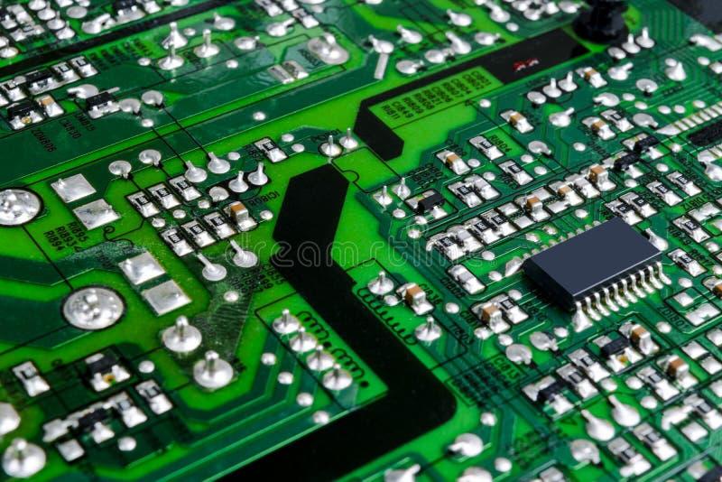 Peut utiliser comme fond Technologie de matériel informatique électronique Puce numérique de carte mère Fond de la science de tec photos stock