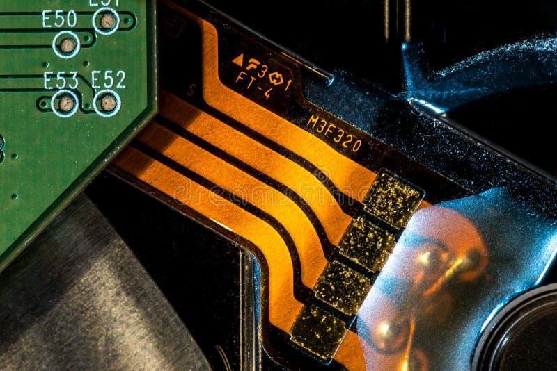 Peut utiliser comme fond Technologie de matériel informatique électronique Puce numérique de carte mère Fond de la science de tec photographie stock libre de droits