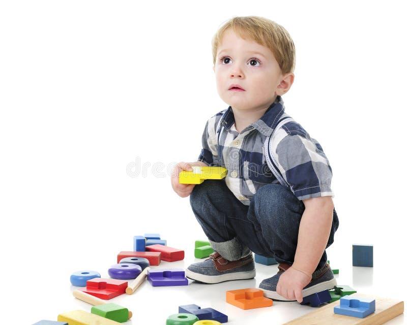 Peuter speelblokken stock foto