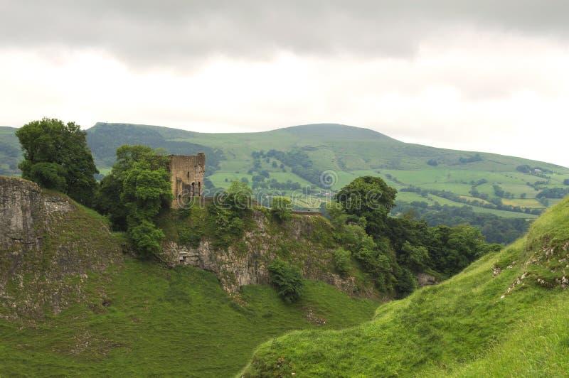 Peveril城堡 库存照片