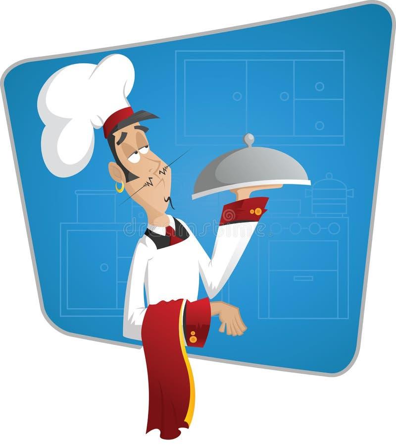 pewny siebie kucharz ilustracji