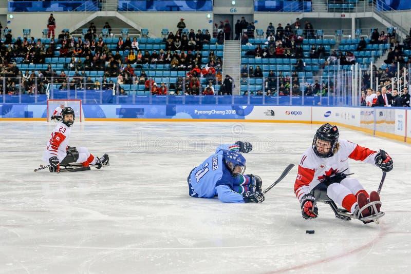 Peyongchang 2018 11th Marzec Paralympic gry w Południowym Korea - S zdjęcia royalty free