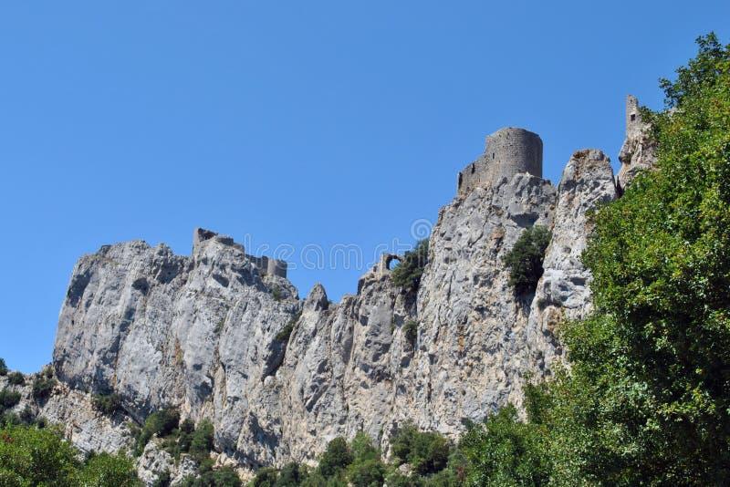 peyrepertuse замока стоковые фотографии rf