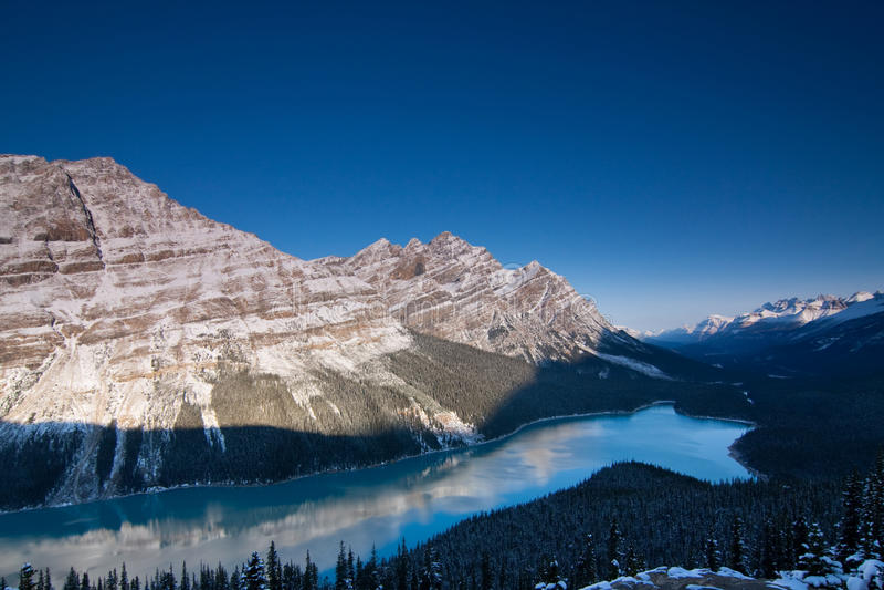 peyto озера стоковые фотографии rf