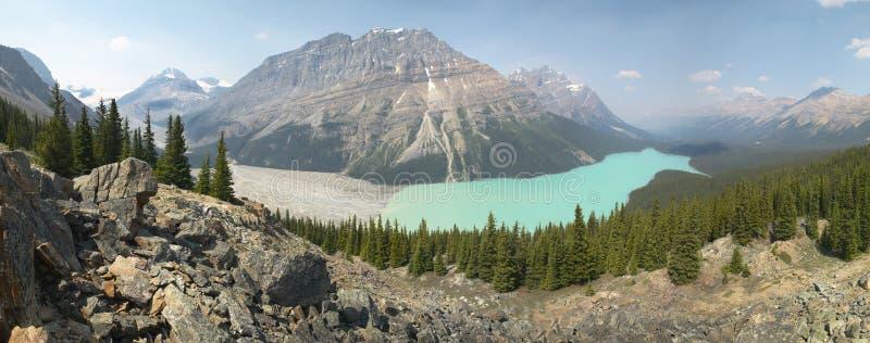 Peyto glacier lake in Rocky Mountains. Canada stock image