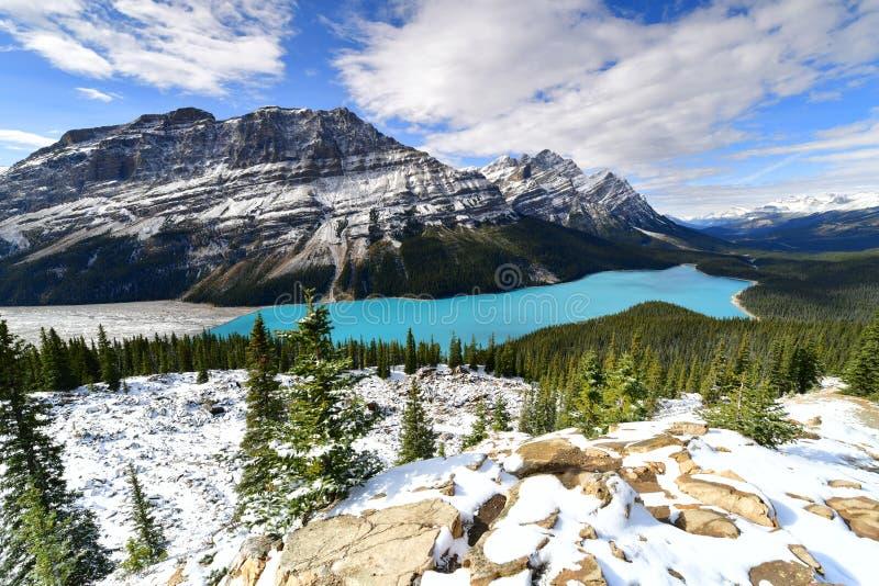 Peyto jezioro w Banff park narodowy, Alberta, Kanada obraz royalty free