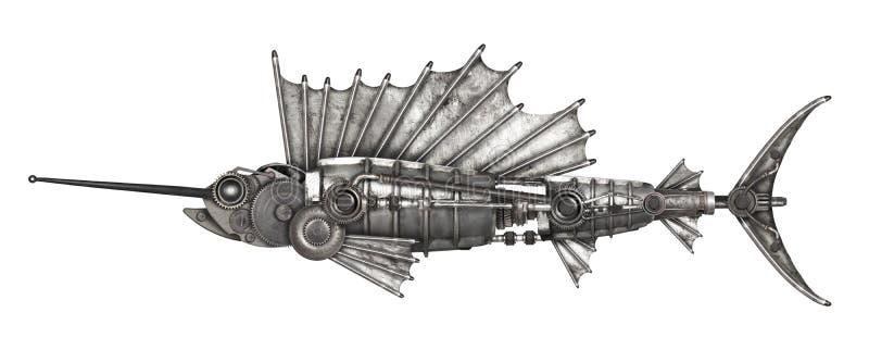 Pez volador del estilo de Steampunk foto de archivo libre de regalías