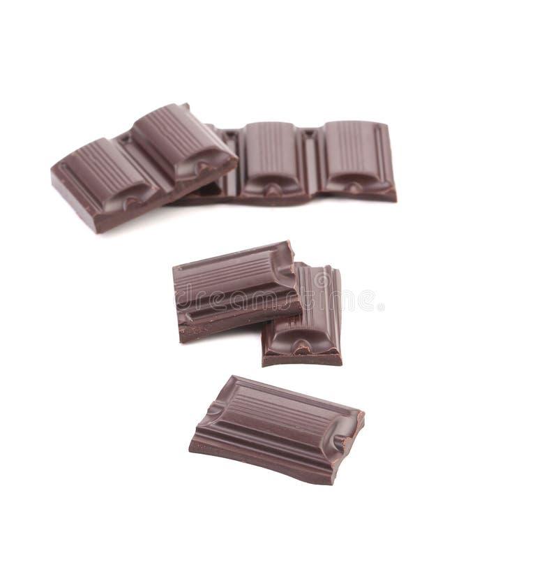 Pezzetto saporito di cioccolato fondente. immagine stock libera da diritti