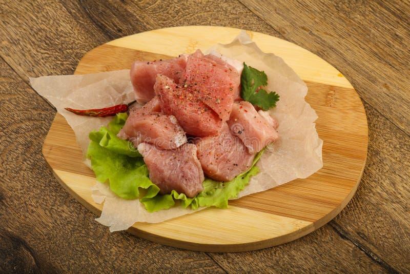 Pezzi crudi della carne di maiale fotografia stock libera da diritti