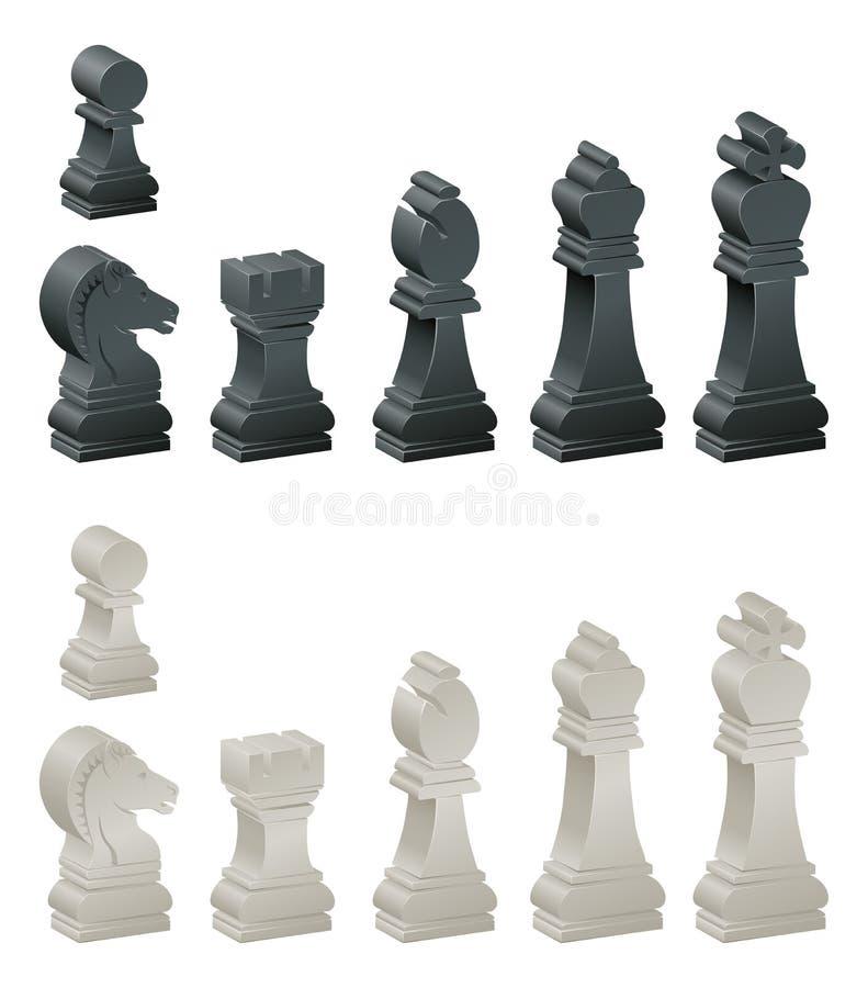 Pezzi degli scacchi royalty illustrazione gratis