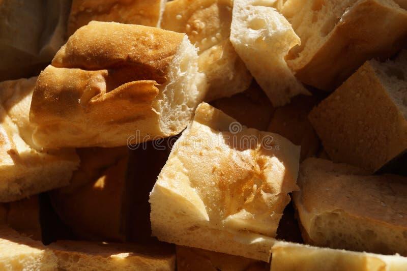 Pezzi del pane bianco immagini stock