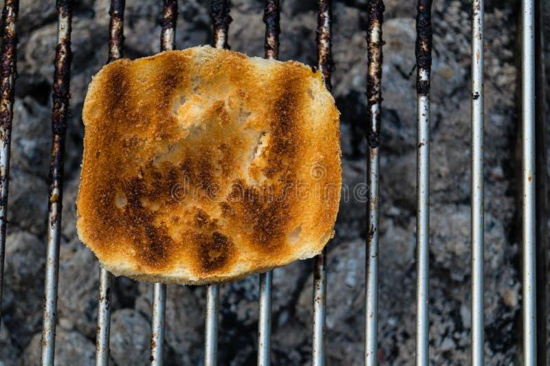 Pezzi del pane bianco fotografia stock