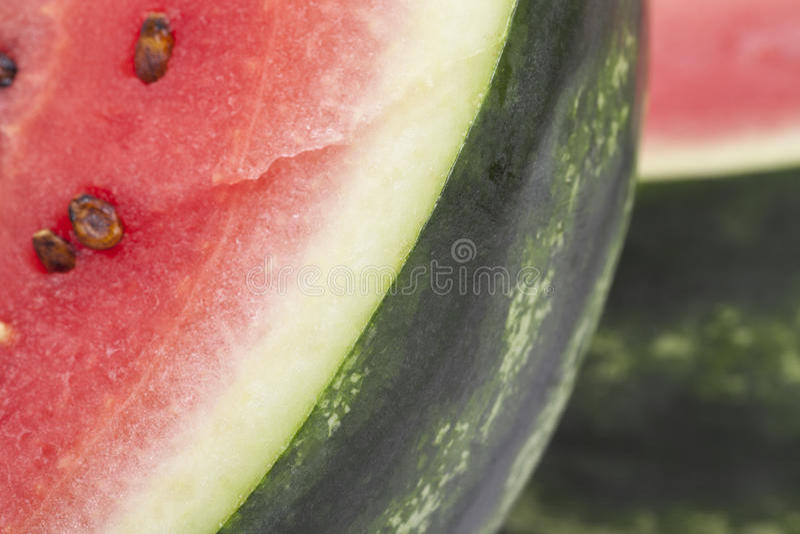 Pezzi di anguria affettata, fine su fotografie stock libere da diritti