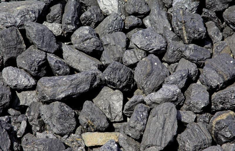 Pezzi di carbone fossile fotografia stock