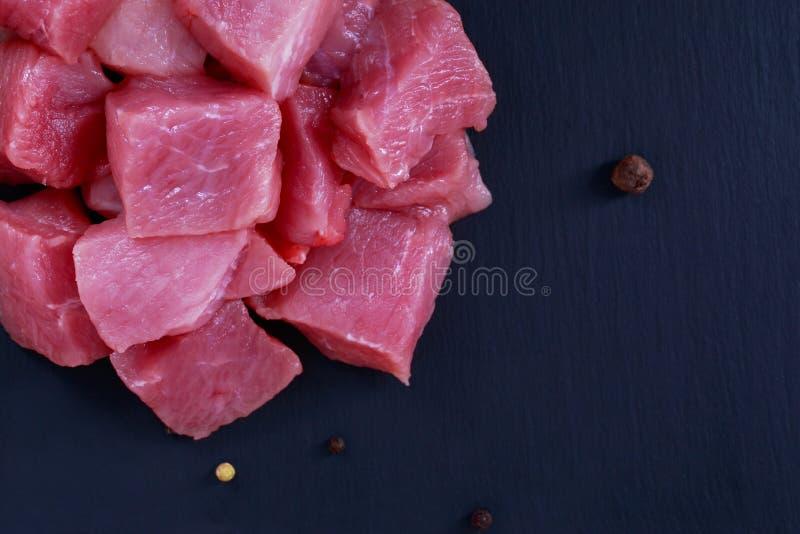 Pezzi di carne fotografia stock