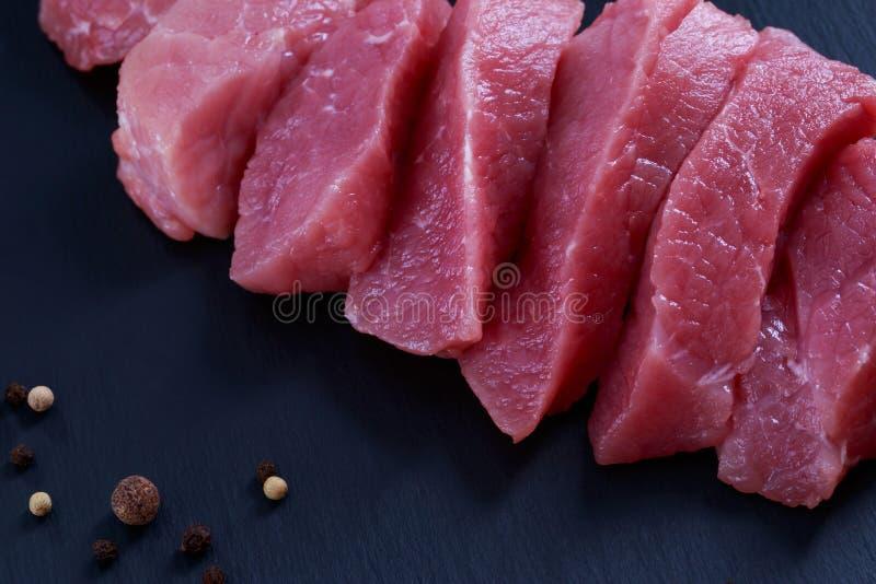 Pezzi di carne fotografia stock libera da diritti