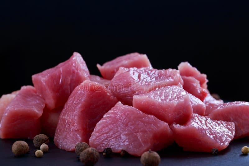 Pezzi di carne fotografie stock