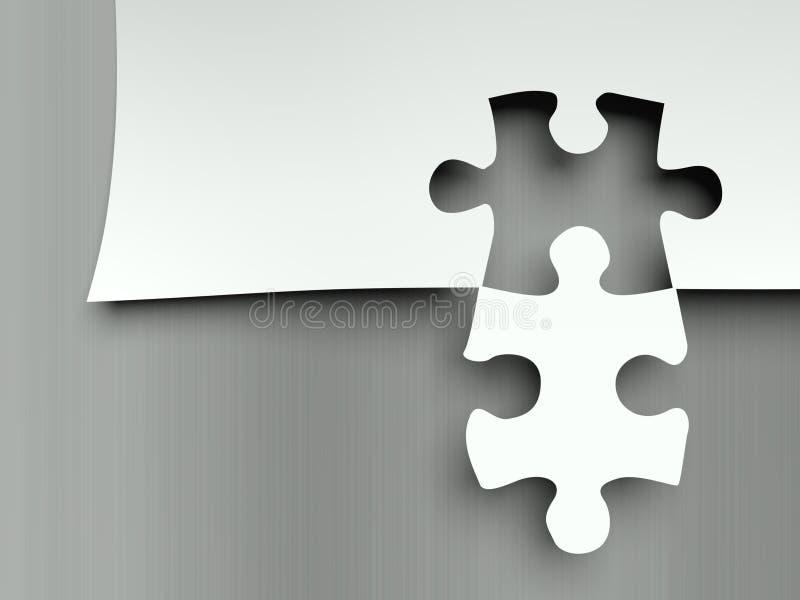 Pezzi di corrispondenza di puzzle, metafora del complemento illustrazione vettoriale