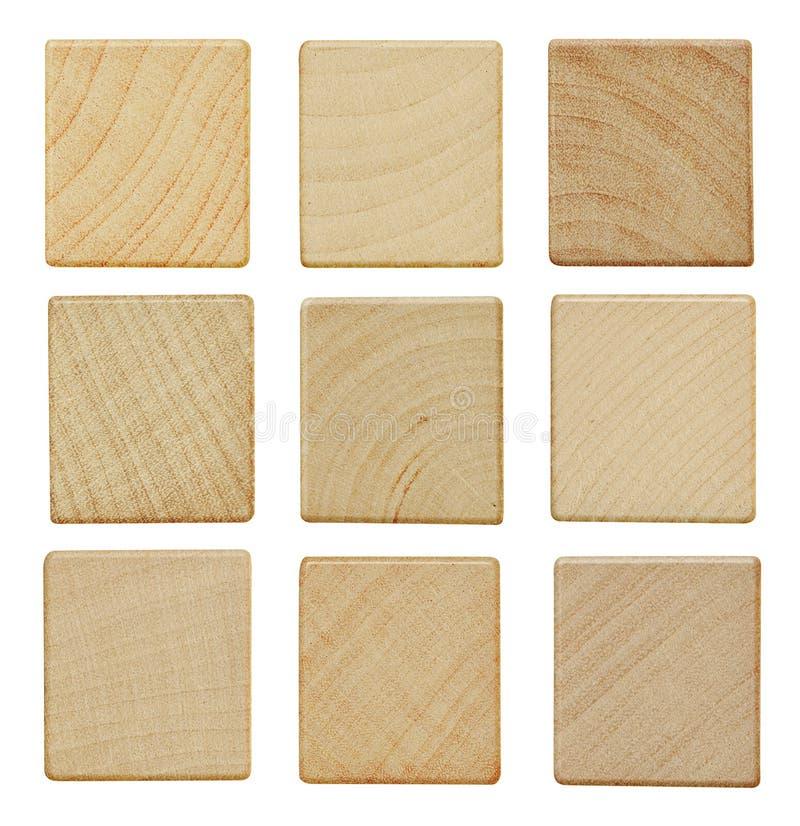 Pezzi di legno in bianco immagini stock