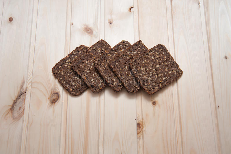 Pezzi di pane fotografie stock
