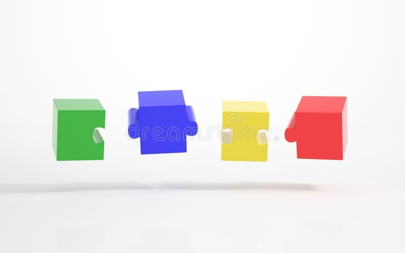 Pezzi di puzzle che abbina insieme illustrazione vettoriale