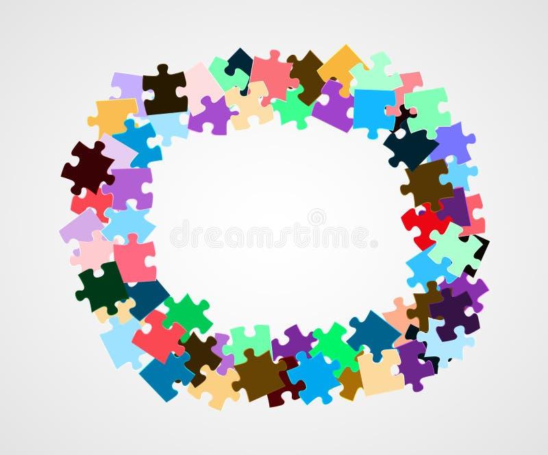 Pezzi di puzzle di colore illustrazione vettoriale
