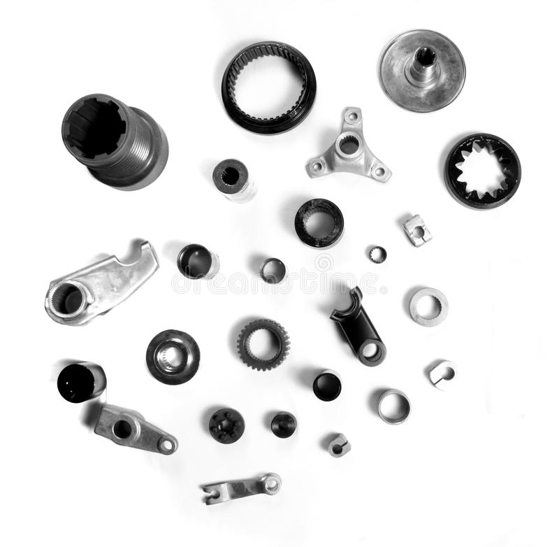 Pezzi meccanici industriali fotografia stock