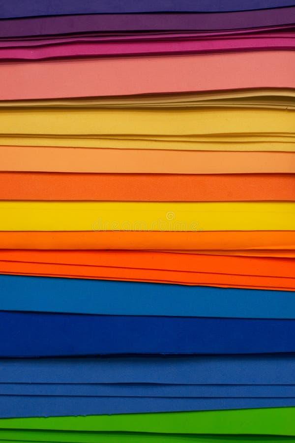Pezzi multicolori di feltro fotografia stock